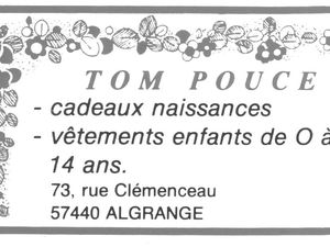 N° 73 rue Clemenceau à Algrange - Peintures - habillement - Habitation