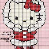 Grille gratuite point de croix : Hello Kitty Noel - Le blog de Isabelle