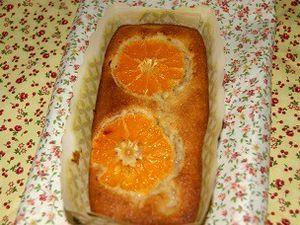 Moelleux à l'orange, clémentines et kaki