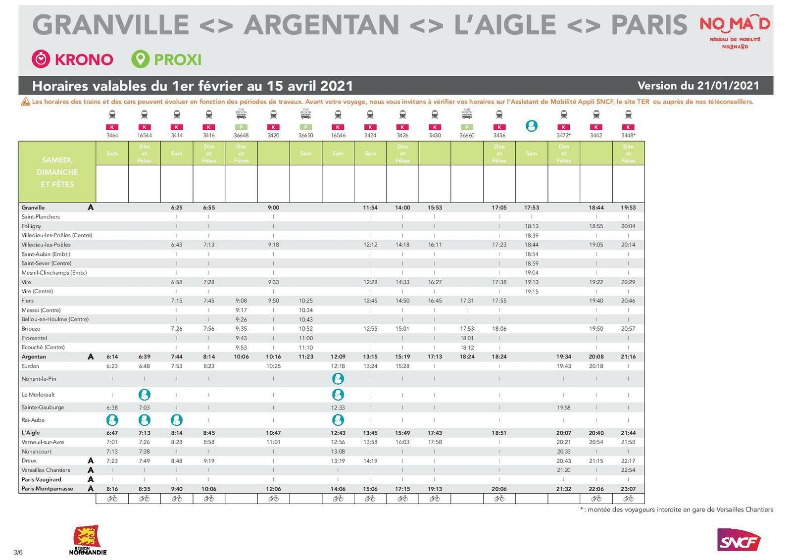 Granville Paris du 1er février au 15 avril