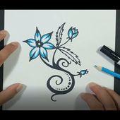 Como dibujar una flor paso a paso 20 | How to draw a flower 20