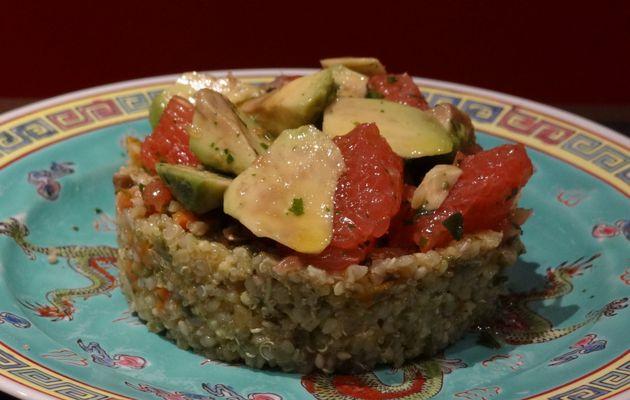 Mix Quinoa Amarante, au dès d'avocats et de pamplemousses roses