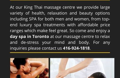 Make your body relax with our RMT Hot Stone Massage Toronto : King Thai Massage Centre