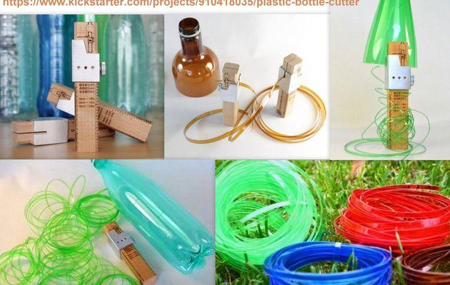 Le cutter qui recycle les bouteilles plastique en ficelle