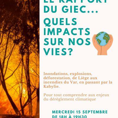 Conférence : le rapport du GIEC, quel impact sur nos vie?