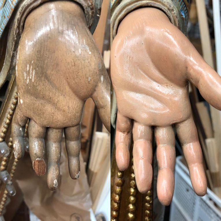 Restauración de la Virgen Milagrosa