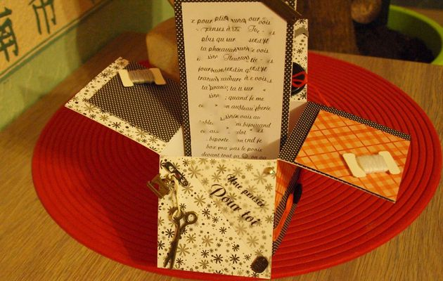Une card box couture