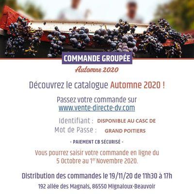COMMANDE VIN DOMAINES & VILLAGES DU 05/10/2020 AU 01/11/2020
