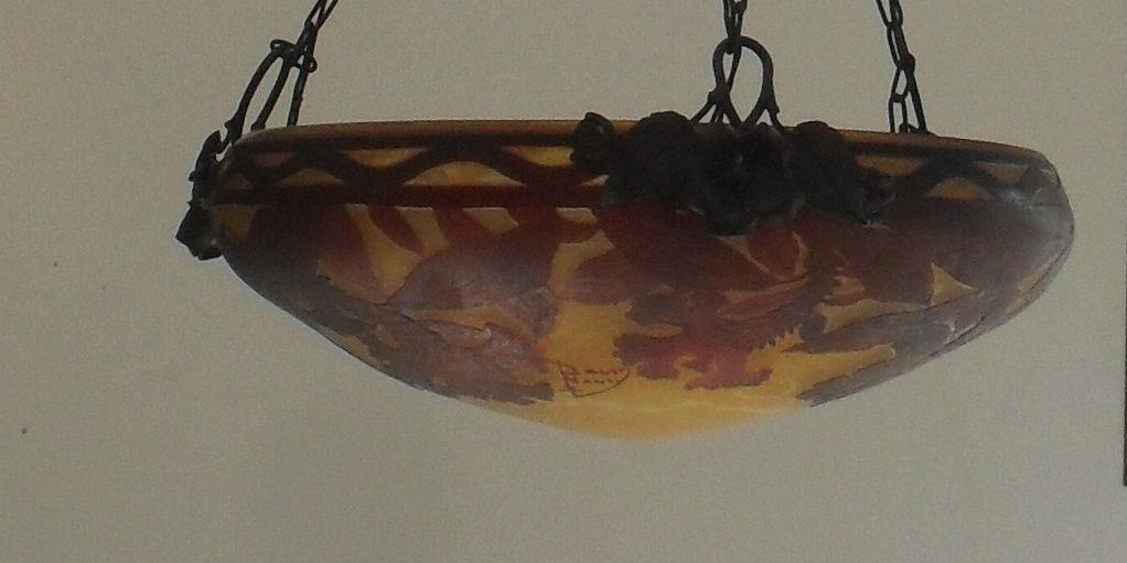 Vasque Art Nouveau Art Déco DAUM NANCY