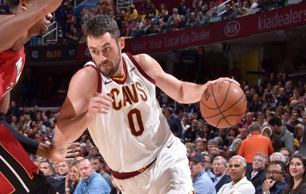 Kevin Love porte les Cavaliers face au Heat, LeBron James exclu du match
