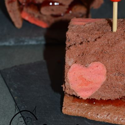 Roulé au chocolat et fruits rouges pour amoureux ! :) {BATTLEFOOD#28}