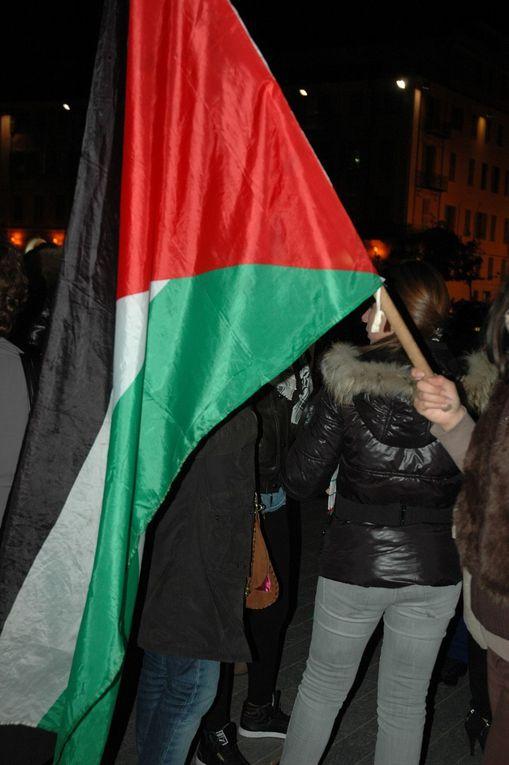 Nice solidaire de Gaza les 17 et 19 novembre 2012. Droits réservés AV et YM