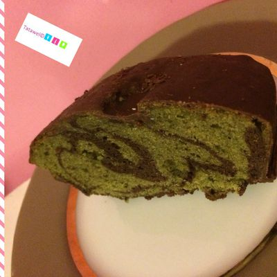 Cake mabré chocolat pistache de Laurent JANIN