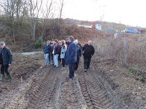 Restructuration section Michon, les élus rencontrent les jardiniers