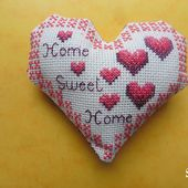 Coeurs Valentin Home sweet Home, j'aime : face A - Chez Mamigoz