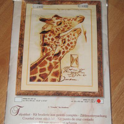 De jolies girafes ... commencées