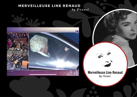 PHOTOS: Line Renaud arrive dans le cortège