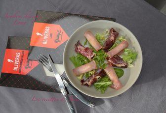 Salade de jambon ibérique et Lomo farçis