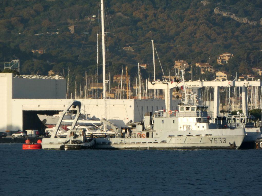 Le groupe en travaux en petite rade de Toulon le 10décembre 2020