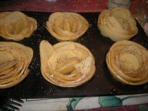 Roses de pomme de terre .