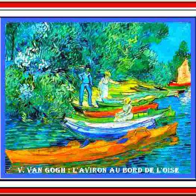 LES GENIES HOLLANDAIS (86) V.VAN GOGH : l'aviron au bord de l'Oise.