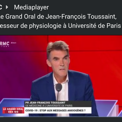 Le Grand Oral de Jean-François Toussaint, professeur de physiologie à Université de Paris - 10/08