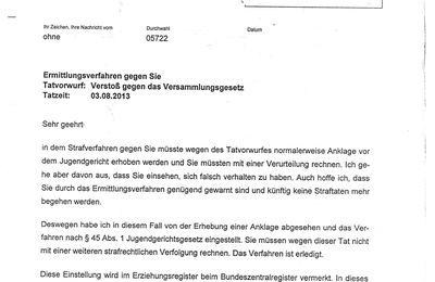 viele Verfahren wegen Besetzung vorm Wincklerbad 3.8.13 Bad Nenndorf eingestellt