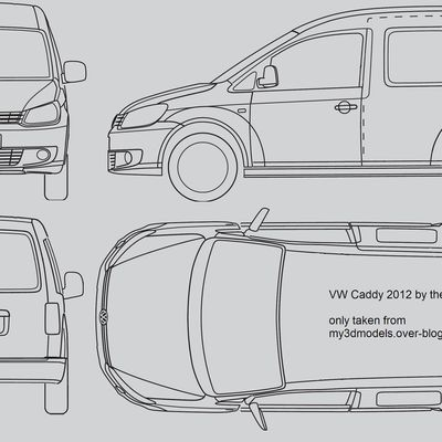 Blueprint of VW Caddy 2012