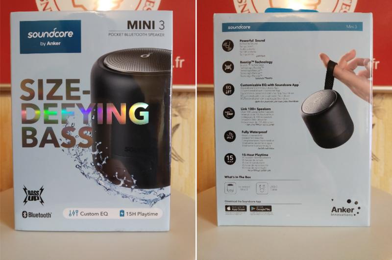 unboxing de l'enceinte nomade Bluetooth compacte - Soundcore Mini 3 @ Tests et Bons Plans