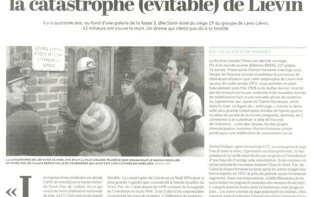 SOUVENONS-NOUS : Il y a 42 ans, la catastrophe minière de LIÉVIN dans le Pas-de-Calais.