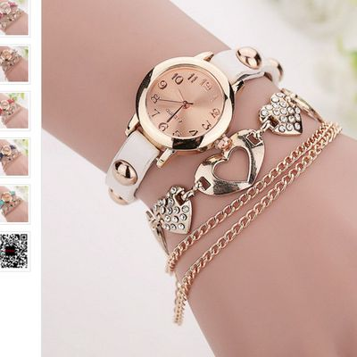 Watches Women Brand Gold Heart  (18) $15.11 free shipping You save 17% off the regular price of $18.34