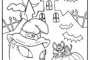 Dibujos Lea Lelo terroríficos para colorear por tus hijos