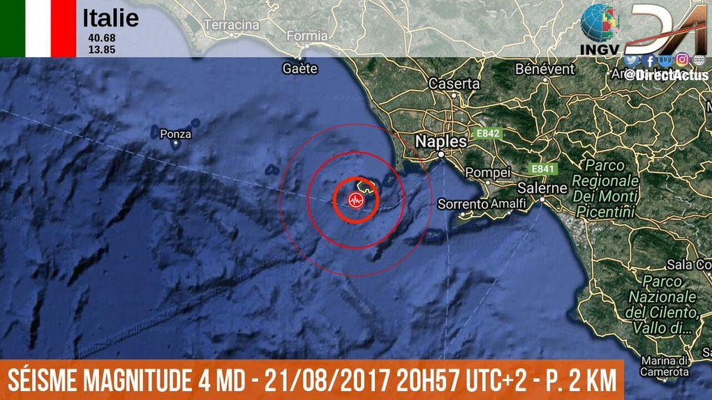 Séisme en Italie sur l'île d'Ischia, 2 morts