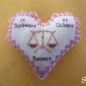 Cœur Valentin Zodiaque : la Balance, face A - Chez Mamigoz