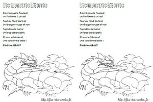 Les monstres bizarres - Corinne Albaut MS-GS-CP-CE1
