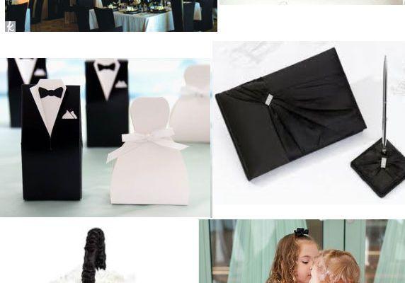 Deco de mariage noire