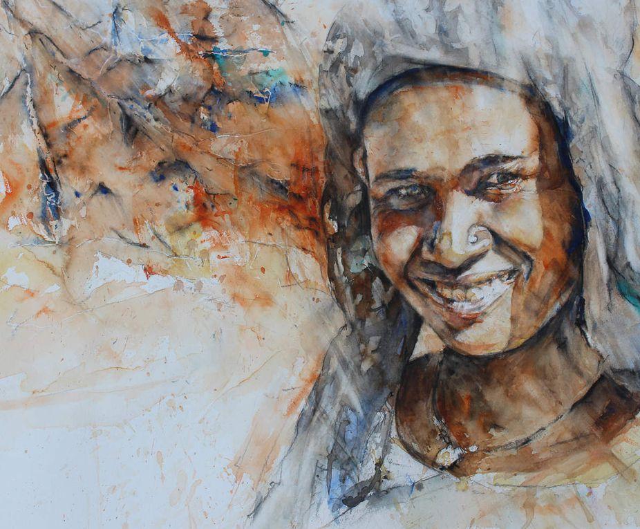 Eth de Melaou expose des aquarelles au festival landes aquarelle du 5 au 13 mai 2018 à Morcenx 40110