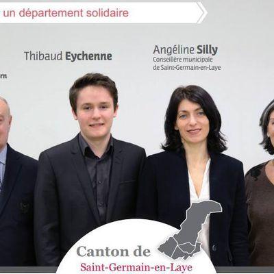Angéline Silly et Thibaud Eychenne, candidats PS sur le canton de Saint-Germain-en-Laye