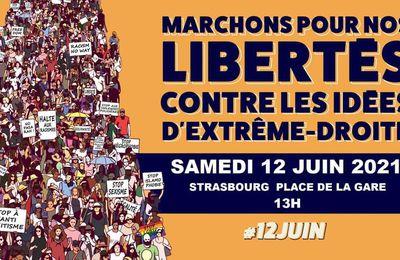 Marche strasbourgeoise pour les libertés & contre les idées de l'extrême droite - 12 juin 2021
