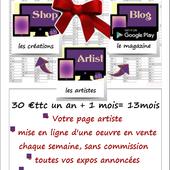 galerie d'art: Promo Noël special artiste, comme au supermarché !