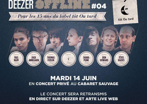 Un concert mardi 14 juin pour les 15 ans du label Tôt ou tard