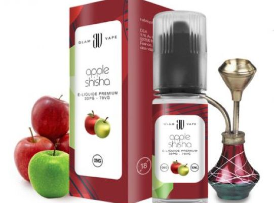 Test - Eliquide - Apple Shisha de chez Glam Vape