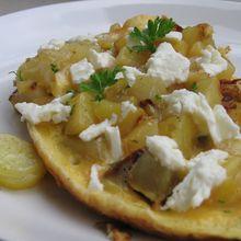 Omelette de pomme de terre-féta