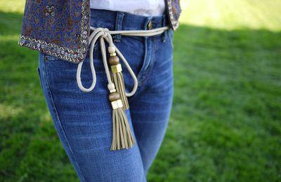 DIY Gucci Tassel Belt