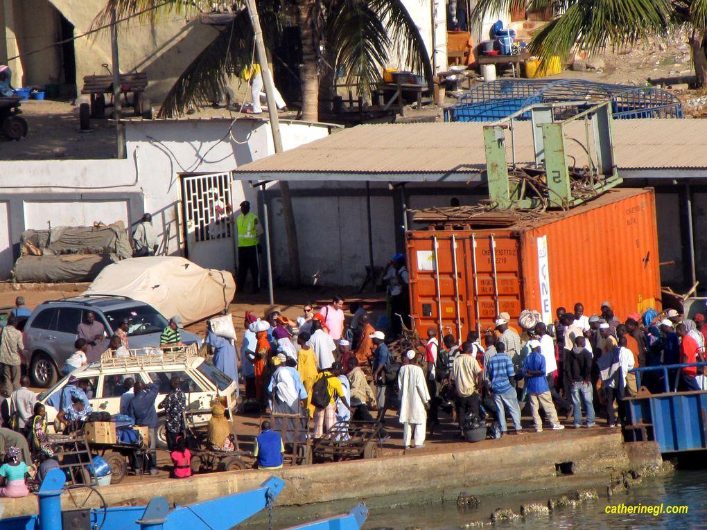 Photos prises depuis le pont du bateau