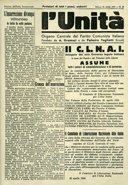 Giornali di Aprile 1945