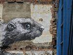 Street-art à Londres: le bestiaire de Roa, un castor et un lièvre