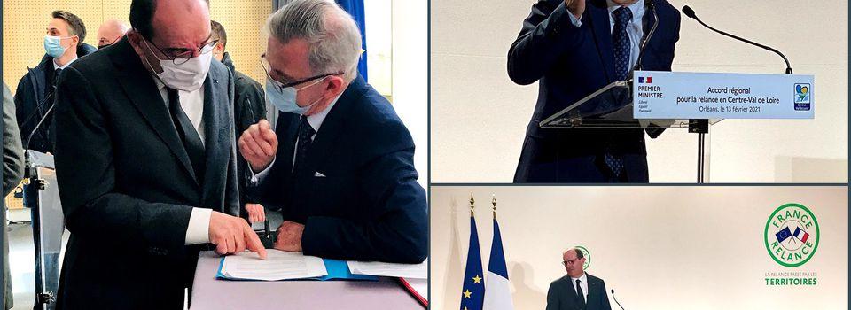 Jean CASTEX en Centre-Val de Loire: Signatures du CPER et du Plan de Relance - appel à l'État d'urgence Culturel