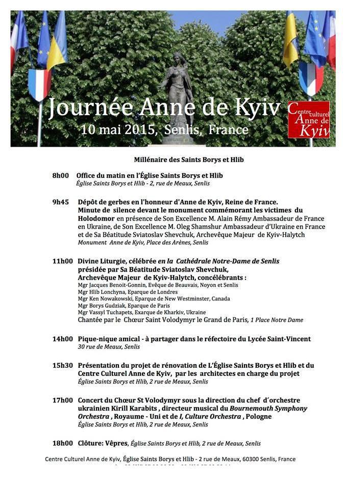 Programme de la Journée Anne de Kyiv 2015