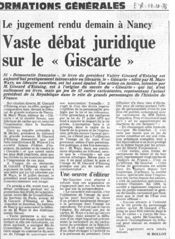 Valéry Giscard d'Estaing : grand démocrate ? Mauvais joueur !